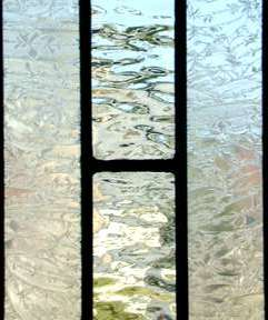 leaded glass transom window of clear textured glass custom at glass by design