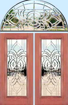 entry with all beveled leaded glass windows