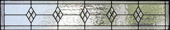 Custom leaded glass diamond clusters window