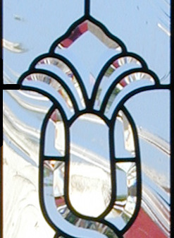 Custom Victorian style leaded beveled glass sidelight window