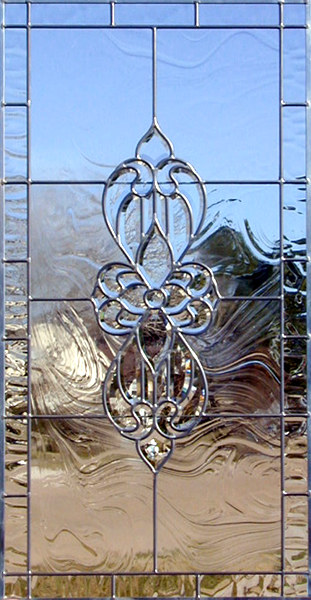 Custom leaded glass bevel window