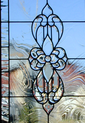 SB34SBRQX custom leaded beveled glass window