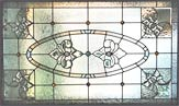 Custom stained and leaded glass Victorian style window