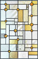 Custom Frank Lloyd Wright inspired stained glass window ABSAMBP