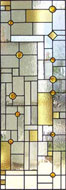 Custom stained and leaded glass window Frank Lloyd Wright inspired