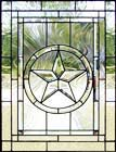 TRADITIONAL custom leaded glass window