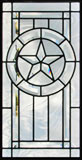 Texas star custom clear leaded beveled glass window txstar11p