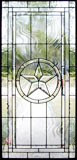 Texas Star custom leaded beveled glass window