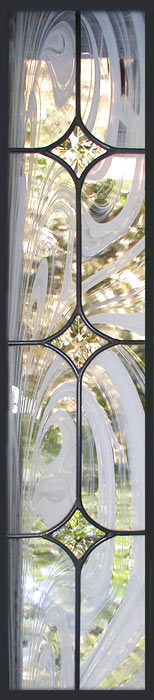 Trimarchis custom leaded glass sidelight window