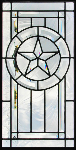 Texas Star 11P beveled leaded glass window