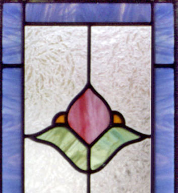 Custom stained and leaded glass VICT13T transom window reminiscent of the Victorian era