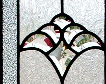 Custom leaded glass sidelight bevel window