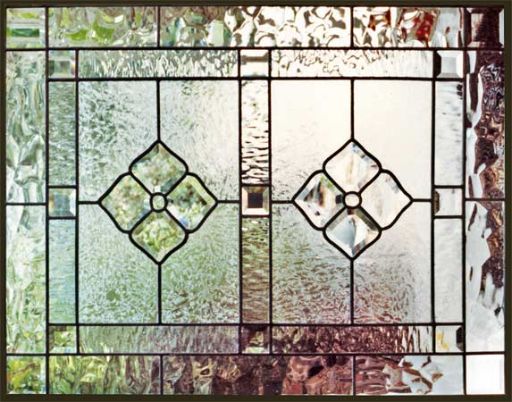 Custom leaded glass CH1 beveled glass window