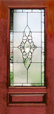 leaded glass door