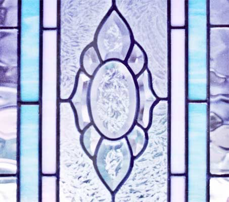 Custom stained and leaded bevel glass CH77T transom window