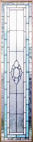 Custom stained and leaded bevel glass CH77SD sidelight window