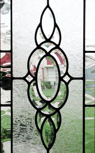 HG12V custom leaded glass bevel window