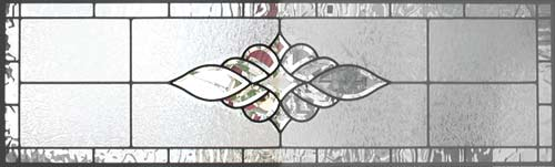 Custom leaded glass horizontal bevel transom window