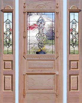mahogany leaded glass Victorian style entry