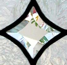 beveled stars leaded glass sidelight window