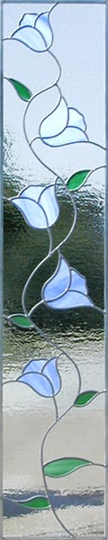 Tulips Side stained glass window custom glass design