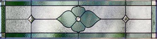 Victorian style stained glass transom window