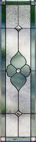 Victorian style stained glass sidelight window