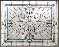 BIG 120 large Victorian style leaded glass window
