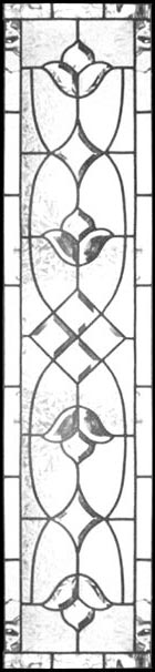leaded glass vertical bevel sidelight window