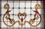 Custom stained and leaded glass vic9p Victorian style window