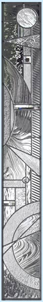 Custom leaded glass abstract sidelight
