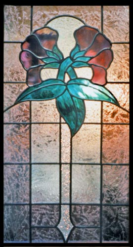 Custom stained glass ausieflwr window