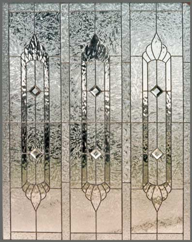 large leaded glass privacy window custom glass design