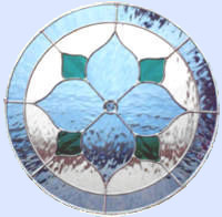 stained glass circle window