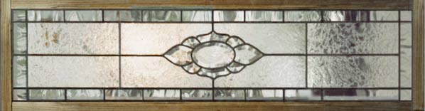 Custom leaded glass beveled transom window