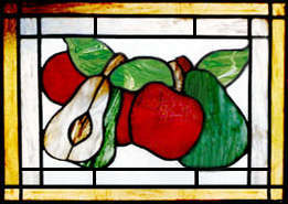fruit stained glass window