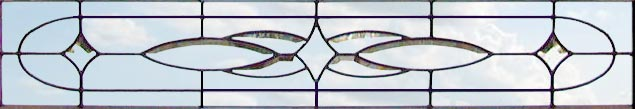 Custom horizontal leaded glass transom window