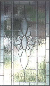 Leaded glass bevel window