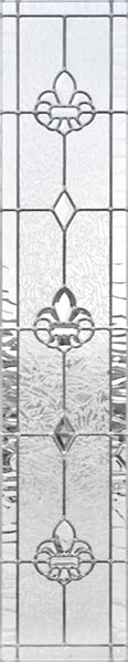 Fleur de Lis leaded glass sidelight window