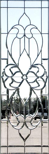CHBP10L leaded glass all beveled window custom glass design
