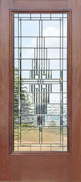 D100MP custom leaded glass bevel window