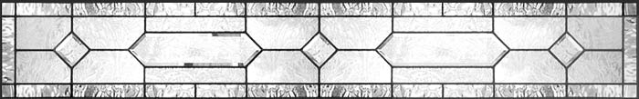 double house bevels leaded glass custom transom window