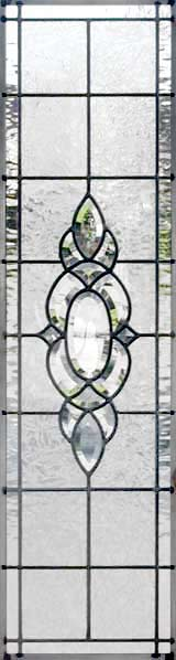 Custom leaded glass HG12V bevel sidelight window