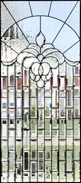 custom leaded glass beveled window