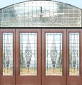 D100M pencil bevel leaded glass entry