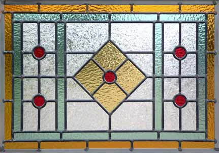 Stained and leaded glass ArtDecoGlass 2 Window