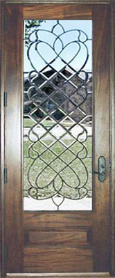 CHBD33L all-beveled leaded glass door at Glass by Design