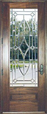 CHBD8L all-beveled leaded glass door at Glass by Design