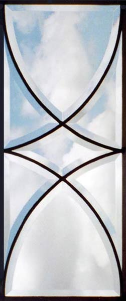 Colonial style all-beveled custom sidelight window