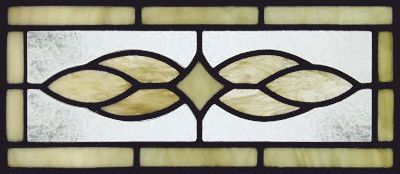 Custom stained and leaded glass Victorian window